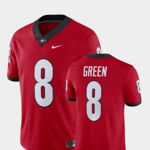 Red GA Bulldogs Mens Alumni Football Game Player A.J. Green College Jersey #8
