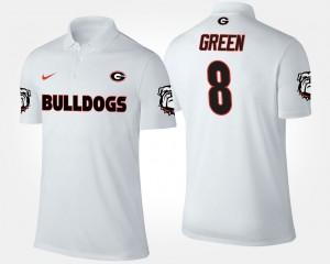 For Men Georgia A.J. Green College Polo #8 White