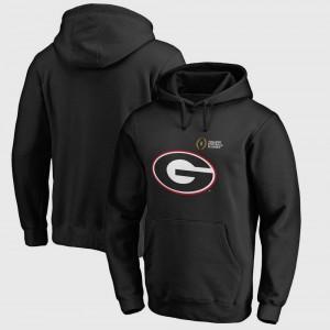 Georgia Bulldogs For Men College Hoodie Bowl Game Football Playoff 2018 Rose Bowl Bound Checkdown Black