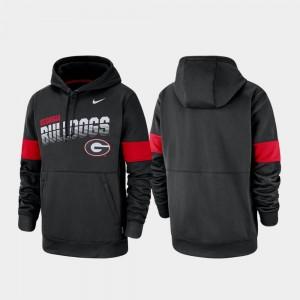 Performance Pullover For Men College Hoodie Black GA Bulldogs