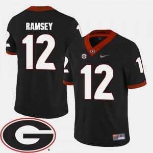 Brice Ramsey College Jersey GA Bulldogs Black #12 2018 SEC Patch Football For Men's