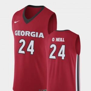 GA Bulldogs Connor O'Neill College Jersey Red Mens #24 Basketball Replica