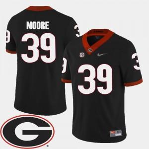 #39 UGA Men Football Black 2018 SEC Patch Corey Moore College Jersey