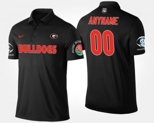 GA Bulldogs Southeastern Conference Rose Bowl College Customized Polo For Men Bowl Game #00 Black
