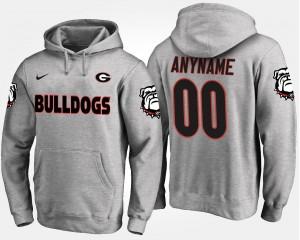 College Custom Hoodie #00 Gray UGA Men