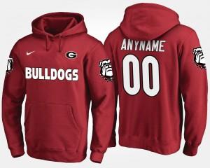 Mens College Customized Hoodie #00 University of Georgia Red