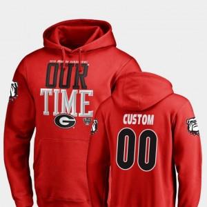 Men 2019 Sugar Bowl Bound GA Bulldogs College Customized Hoodies #00 Counter Red