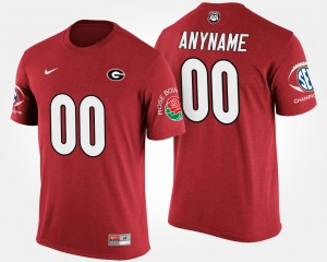 For Men Bowl Game GA Bulldogs Southeastern Conference Rose Bowl #00 College Custom T-Shirt Red