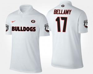 White Men's UGA Bulldogs #17 Davin Bellamy College Polo