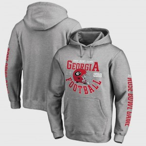 For Men Bowl Game Georgia Football Playoff 2018 Rose Bowl Bound Down College Hoodie Gray