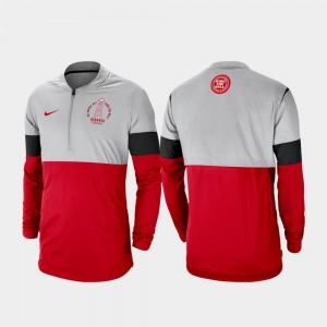Rivalry UGA Bulldogs Football Half-Zip Gray Red College Jacket Mens