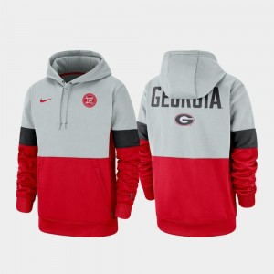 Therma Performance Pullover College Hoodie Gray Red Rivalry UGA Men