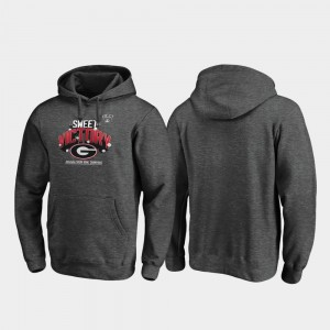 Receiver For Men Heather Gray 2020 Sugar Bowl Champions University of Georgia College Hoodie