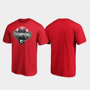 GA Bulldogs College T-Shirt 2019 SEC East Football Division Champions Red Men