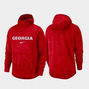 College Hoodie UGA Bulldogs Basketball Team Logo Pullover Red Spotlight For Men