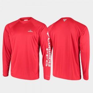 PFG Terminal Tackle Long Sleeve Red GA Bulldogs Men's College T-Shirt Omni-Shade