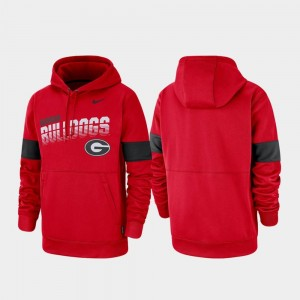 Men's Performance Red Pullover UGA College Hoodie