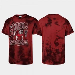 Tubular Tie Dye Red University of Georgia College T-Shirt Men