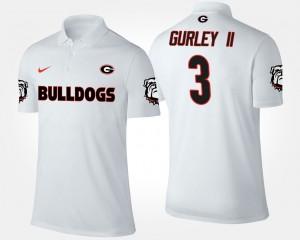 University of Georgia Men White #3 Todd Gurley II College Polo