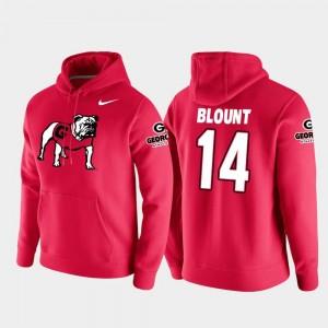 Football Pullover Georgia Red Vault Logo Club Mens Trey Blount College Hoodie #14