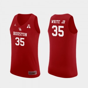 Red Replica Cougars For Men #35 Basketball Fabian White Jr. College Jersey