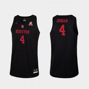 Replica Black Basketball Cougars #4 Justin Gorham College Jersey Mens
