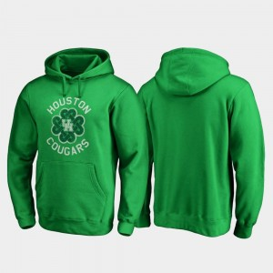 St. Patrick's Day Men Houston Luck Tradition College Hoodie Kelly Green