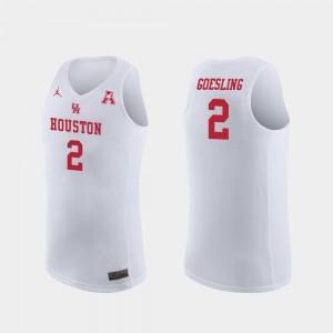 White Replica Landon Goesling College Jersey Basketball Mens #2 Houston