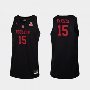 Black Cougars Replica Basketball Neil VanBeck College Jersey For Men's #15