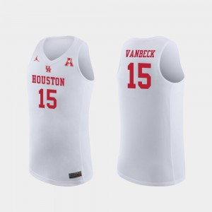 Cougars White Neil VanBeck College Jersey Basketball Replica #15 For Men