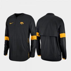 Quarter-Zip 2019 Coaches Sideline University of Iowa Black Mens College Jacket