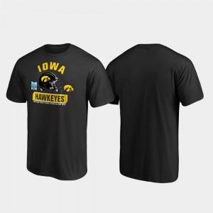 2019 Holiday Bowl Bound Spike Black Iowa Hawkeyes College T-Shirt Men's