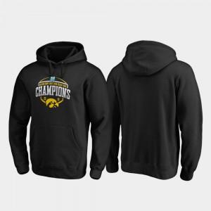 Iowa Hawkeye College Hoodie 2019 Holiday Bowl Champions Corner Black For Men's