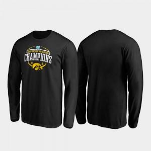 Corner Long Sleeve Black 2019 Holiday Bowl Champions College T-Shirt Iowa Hawkeyes Men