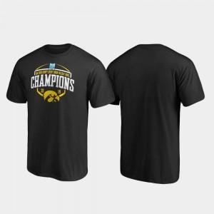 College T-Shirt Iowa Hawkeye Corner Black 2019 Holiday Bowl Champions For Men's