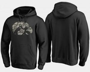 Big & Tall Hawkeyes College Hoodie Camo Cloak Black For Men