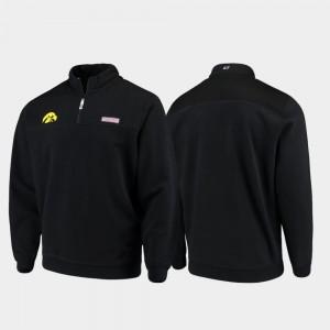 Iowa Hawkeye Shep Shirt College Jacket For Men's Black Quarter-Zip