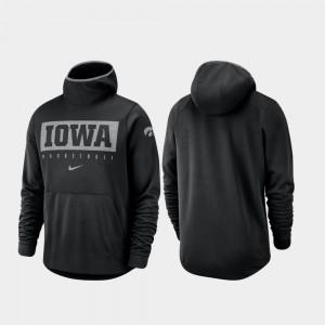 University of Iowa College Hoodie Black Men's Spotlight Basketball