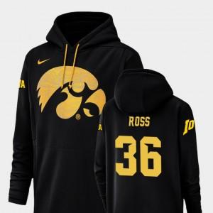 Brady Ross College Hoodie #36 Men's Champ Drive Football Performance Iowa Hawkeyes Black