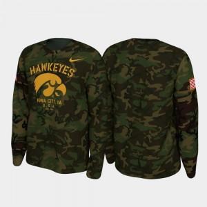 Camo Legend Long Sleeve College T-Shirt 2019 Veterans Day Mens Iowa