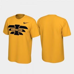 College T-Shirt Performance University of Iowa For Men Alternate Jersey Gold
