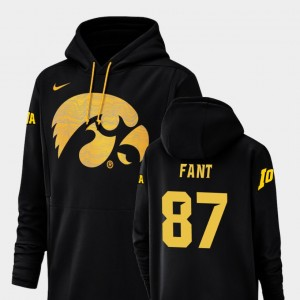 Noah Fant College Hoodie Black Hawkeyes Football Performance For Men's Champ Drive #87