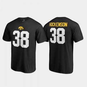 University of Iowa Name & Number Black Mens Legends T.J. Hockenson College T-Shirt #38
