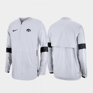 2019 Coaches Sideline For Men Iowa Hawkeyes Quarter-Zip College Jacket White