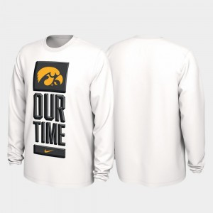 University of Iowa 2020 March Madness White Our Time Bench Legend Men College T-Shirt
