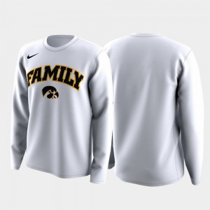 White Family on Court Iowa Hawkeyes College T-Shirt For Men March Madness Legend Basketball Long Sleeve