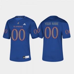 KU College Custom Jersey Royal #00 Football Men