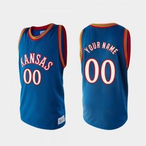 University of Kansas Basketball Alumni #00 Royal College Custom Jersey Men's