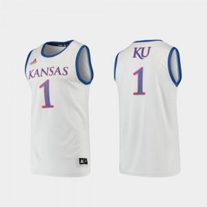 #1 Kansas Jayhawks College Jersey Gray Basketball Swingman Men