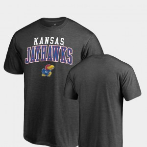 Heathered Charcoal KU College T-Shirt For Men Square Up